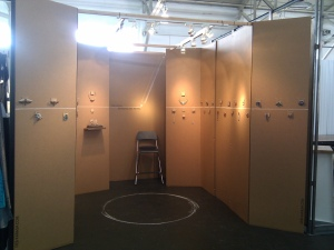 cardboard booth